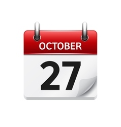 October 277 flat daily calendar icon vector