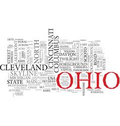 Ohio word cloud concept vector
