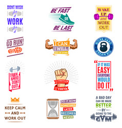 running marathon logo badge emblems lmotivation vector image