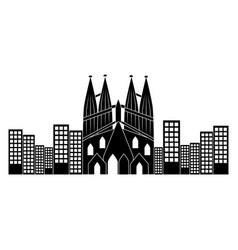Sagrada familia church icon image sagrada familia vector