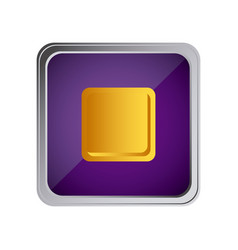 Stop button icon with background purple vector