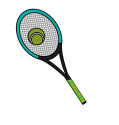 Tennis racket design vector