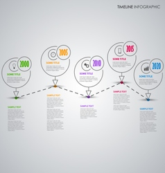 Time line info graphic with thin line pointer vector