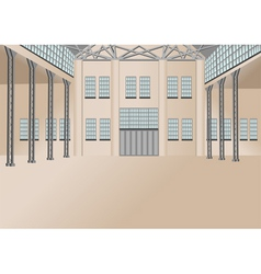 Warehouse interior vector