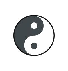Ying yang icon flat style vector image