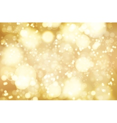 golden bokeh background abstract defocused bright vector image