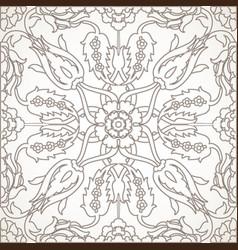 Arabesque vintage element outline for design vector