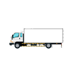 Freight container truck isolated icon vector