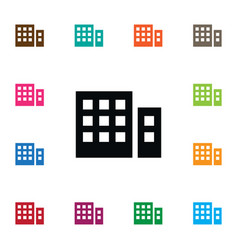 Isolated building icon apartment element vector