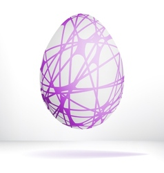 Egg isolated on white background  EPS8 vector image