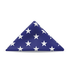 US Flag Folded vector image