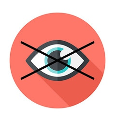 No show flat circle icon vector