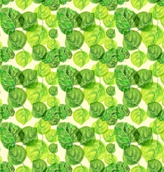Birch leaves pattern vector