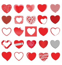 Heart style set 2 vector
