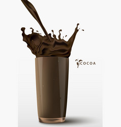 Pouring cocoa drink vector