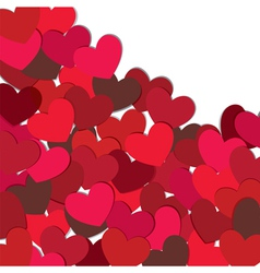 hearts valentine card vector image