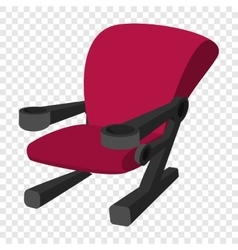 Cinema chair cartoon icon vector