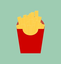 French fries icon vector