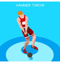 Athletics hammer throw 2016 summer games 3d vector