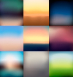 9 blurred backgrounds vector