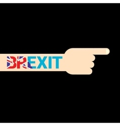 Brexit text isolated united kingdom exit vector