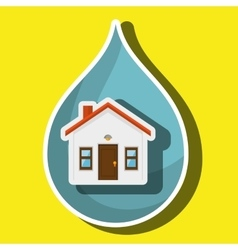 House and ecology isolated icon design vector