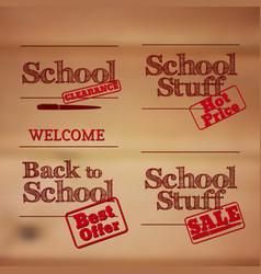 back to school - retro typography design logos vector image vector image