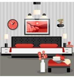 Bedroom design concept vector