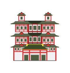 Buddha toothe relic temple singapore vector