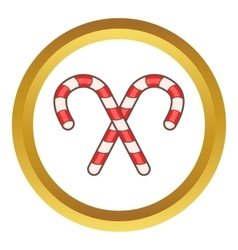 Candy canes for christmas icon vector
