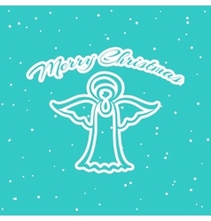Christmas Pattern Angel vector image vector image