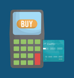 Dataphone and credit card vector
