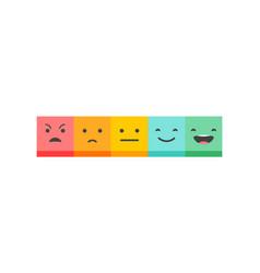 emoticons scale - feedback concept design vector image