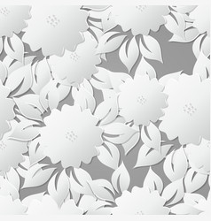 Floral seamless pattern background with 3d vector