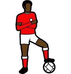 Footballer vector image vector image