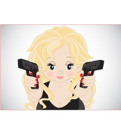 Girl with guns vector