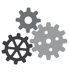 Growing gears vector image vector image