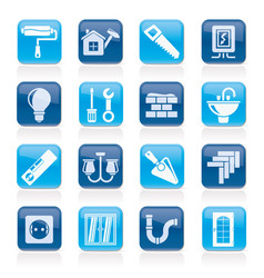 home repair and renovation icons vector image