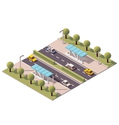 isometric highway underpass vector image vector image