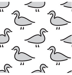 kids seamless pattern bird duck vector image