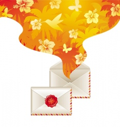letter and wax seal vector image vector image