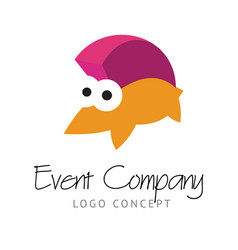 Logo concept with funny hedgehog vector