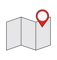 map with gps pin icon vector image vector image