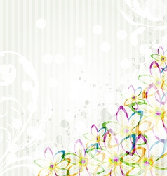 Multicolor flowers background for design card vector image vector image