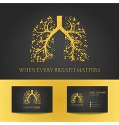 Pulmonary clinic business card vector