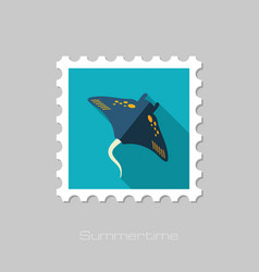 Ramp fish stamp summer vacation vector
