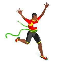 Running Winner 2016 Sports 3D Isometric vector image vector image