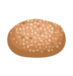 Rye bread icon cartoon style vector