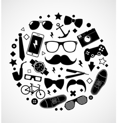 Set of fashionable mens accessories vector image vector image