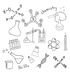 Sketch of science doddle elements vector